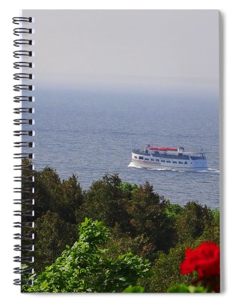 Morning Ferry To Mackinac Island Spiral Notebook