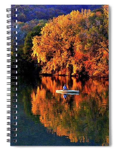 Morning Fishing On Lake Winona Spiral Notebook