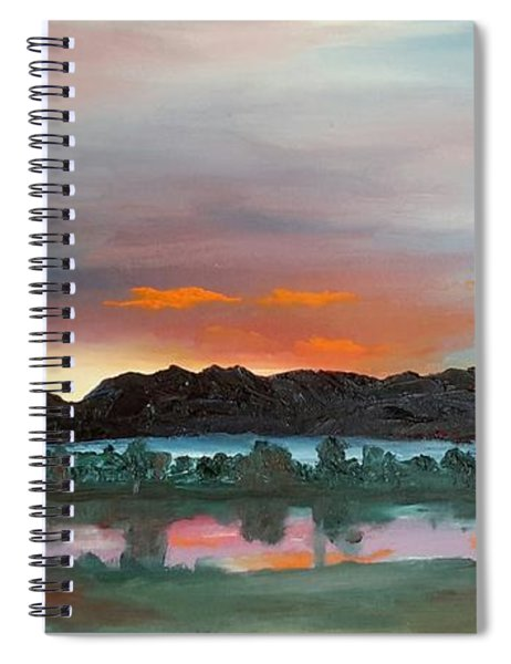 Morning Fog Silver Star  Spiral Notebook