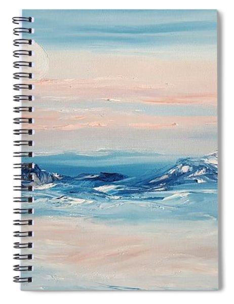 Morning Full Moon Spiral Notebook