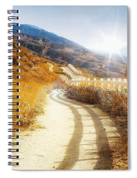 Spiral Notebook featuring the photograph Morning Hike by Alison Frank