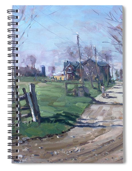 Morning In The Farm Georgetown Spiral Notebook