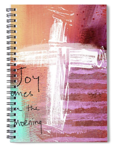 Morning Joy- Abstract Art By Linda Woods Spiral Notebook