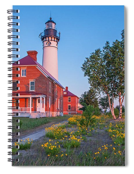 Morning Light At Au Sable Point Spiral Notebook