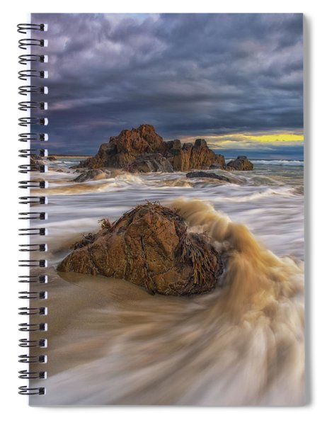 Morning Light At Marginal Way Spiral Notebook
