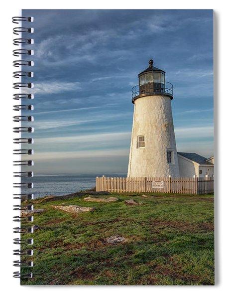 Morning Light At Pemaquid Point Spiral Notebook