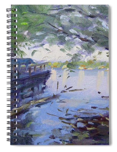 Morning Light By The River Spiral Notebook