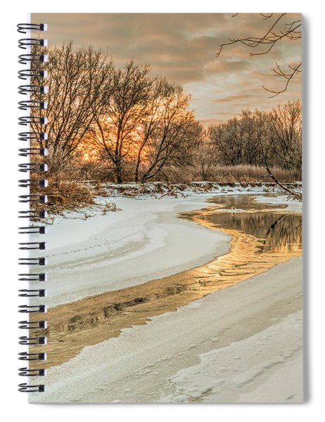 Morning Light On The Riverbank Spiral Notebook