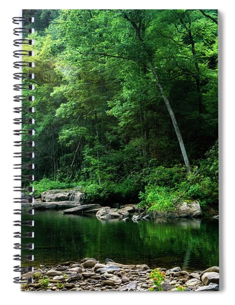 Morning Light On Williams River  Spiral Notebook