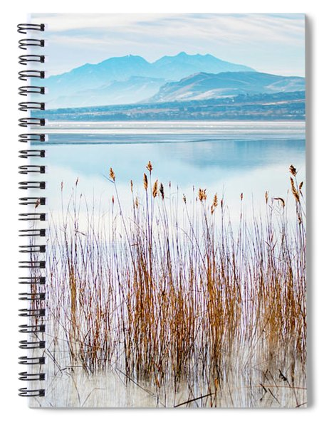Morning Mist On The Lake Spiral Notebook