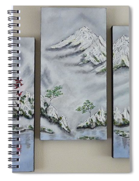 Morning Mist Triptych Spiral Notebook