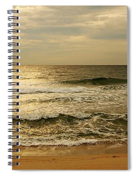 Morning On The Beach - Jersey Shore Spiral Notebook