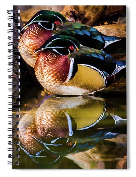 Morning Reflections - Wood Ducks Spiral Notebook
