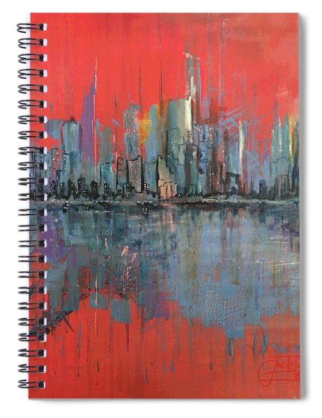 Morning Reflects Illusion Spiral Notebook