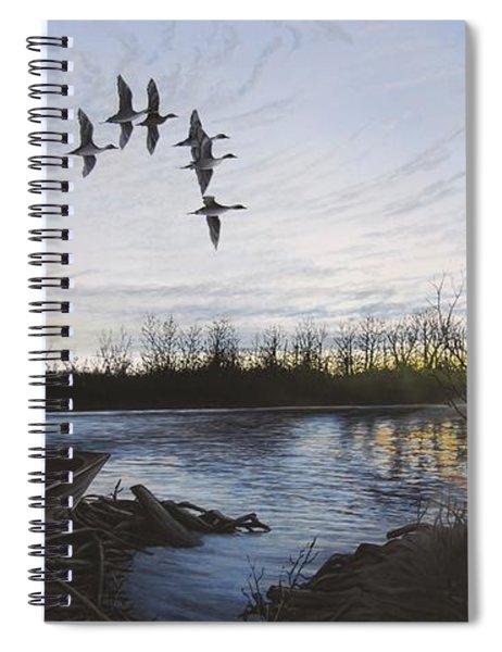 Morning Retreat - Pintails Spiral Notebook