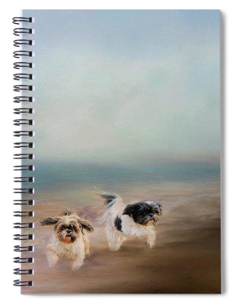 Morning Run At The Beach Spiral Notebook