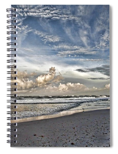 Morning Sky At The Beach Spiral Notebook