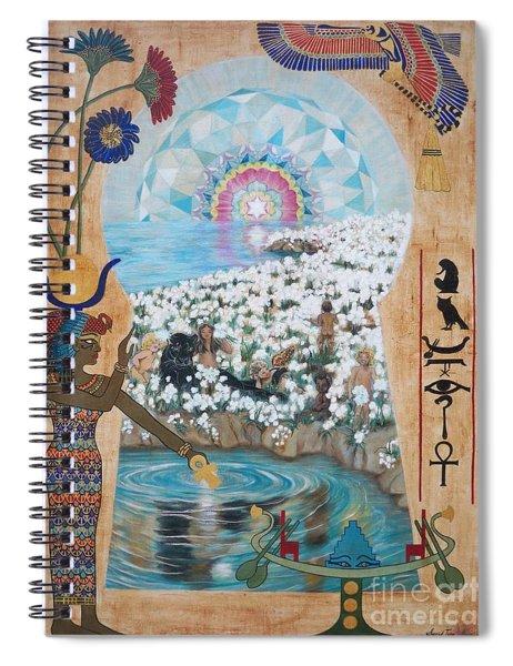 Blaa Kattproduksjoner            Bright  Morning Star Spiral Notebook