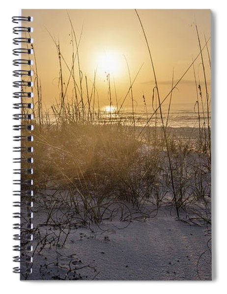 Morning Sunrise Over The Dunes  Spiral Notebook