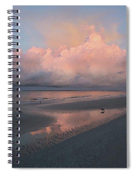 Morning Walk On The Beach Spiral Notebook