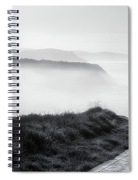 Morning Walk With Sea Mist Spiral Notebook