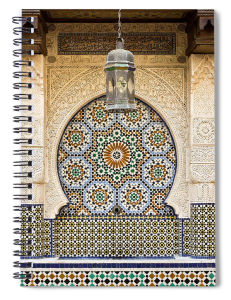 Moroccan Fountain Spiral Notebook