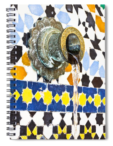 Moroccan Tap Spiral Notebook by Tom Gowanlock