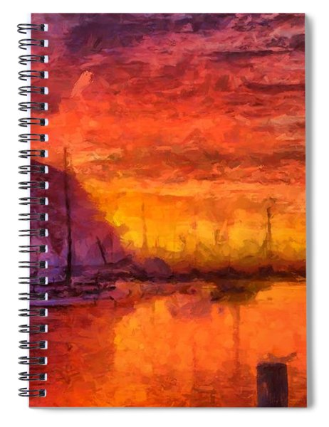 Morro Bay Marina Spiral Notebook