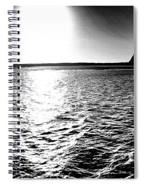 Morro Rock, Black And White Spiral Notebook