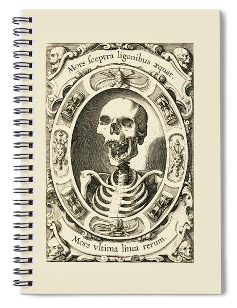 Mors Ultima Linea Rerum - Egbert Van Panderen Engraving  Spiral Notebook