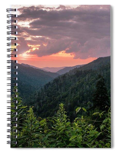 Morton Overlook Cloudy Sunset Spiral Notebook