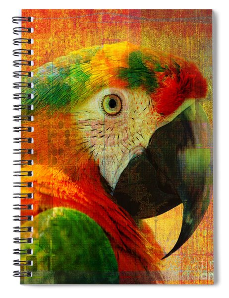 Mosaic Macaw 2016 Spiral Notebook
