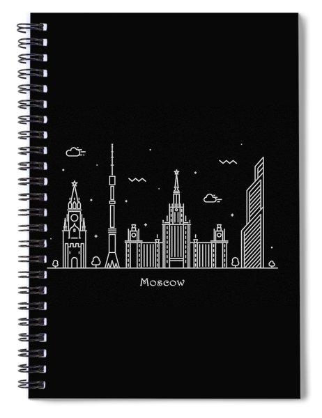 Moscow Skyline Travel Poster Spiral Notebook