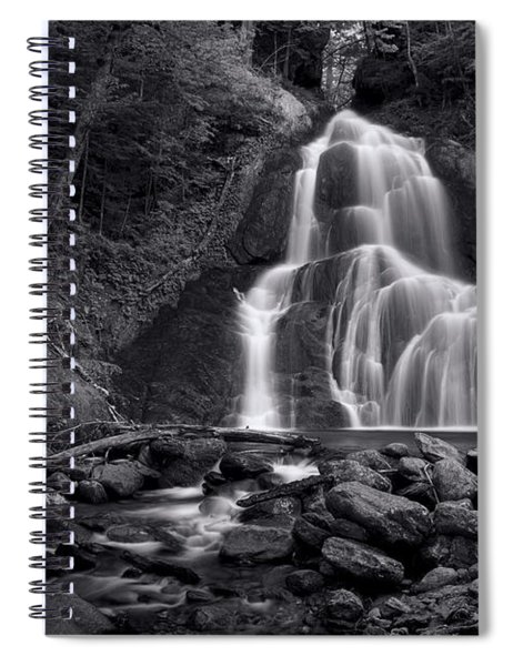 Moss Glen Falls - Monochrome Spiral Notebook