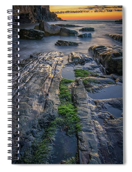Mossy Rocks At Bald Head Cliff  Spiral Notebook