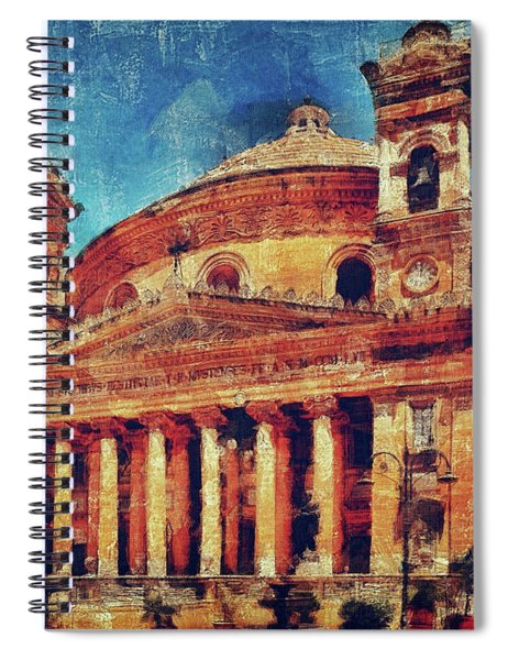 Mosta Church Spiral Notebook