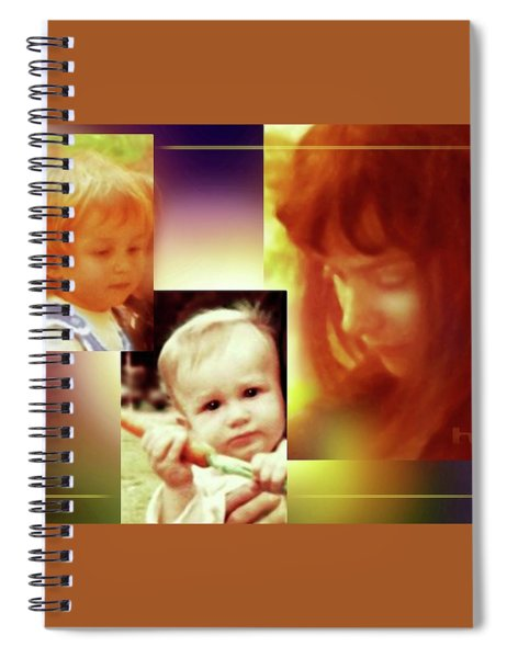 Mother , Son And Daughter Spiral Notebook