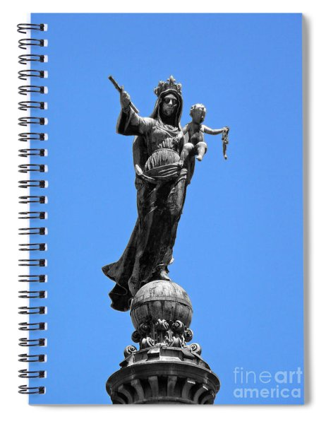 Mother And Child Rooftop Statue Spiral Notebook