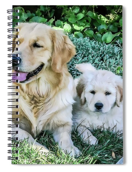 Mother And Pup Spiral Notebook