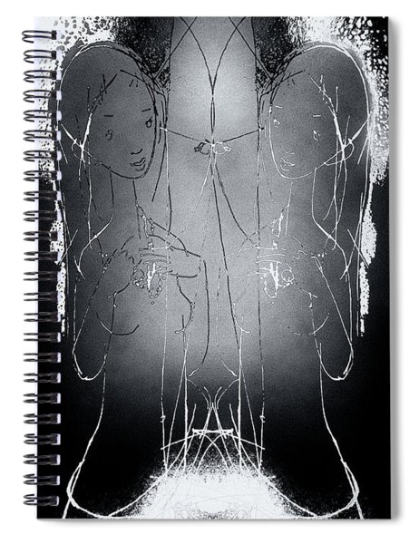 Mother With Twins Spiral Notebook