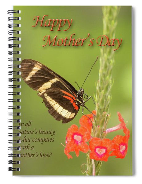 Mother's Day-butterfly Spiral Notebook