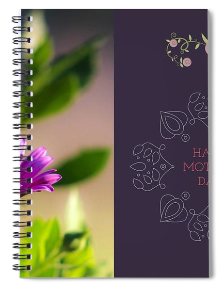 Spiral Notebook featuring the photograph Mother's Day Flower by Alison Frank
