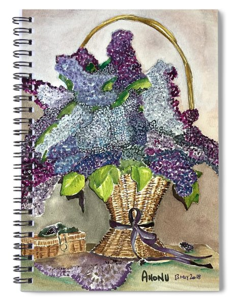 Mothers Day Lilacs Spiral Notebook
