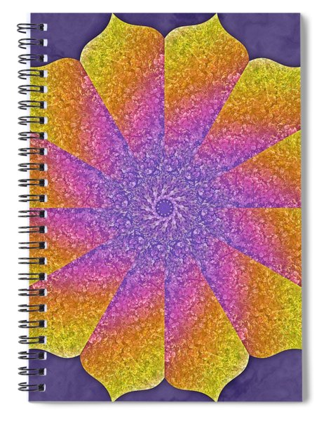 Spiral Notebook featuring the digital art Mothers Womb by Derek Gedney