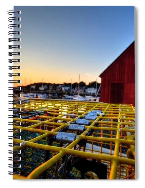 Motif 1 Lobster Trap Sunrise Spiral Notebook