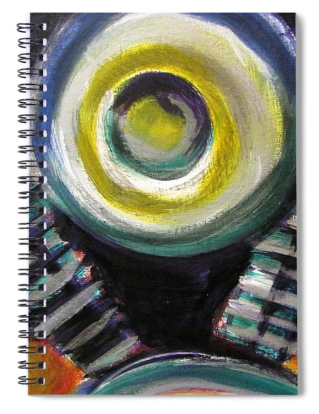 Motorcycle Abstract Engine 2 Spiral Notebook