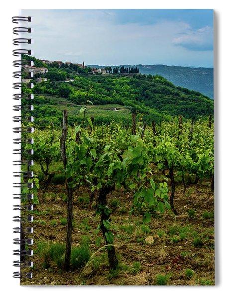 Motovun And Vineyards - Istrian Hill Town, Croatia Spiral Notebook