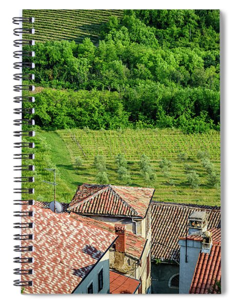 Motovun Istrian Hill Town - A View From The Ramparts, Istria, Croatia Spiral Notebook