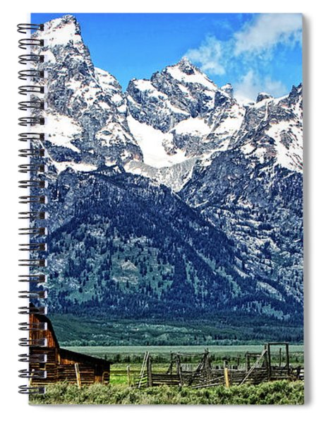 Moulton Barn At Mormon Row Inside Grand Teton National Park Spiral Notebook