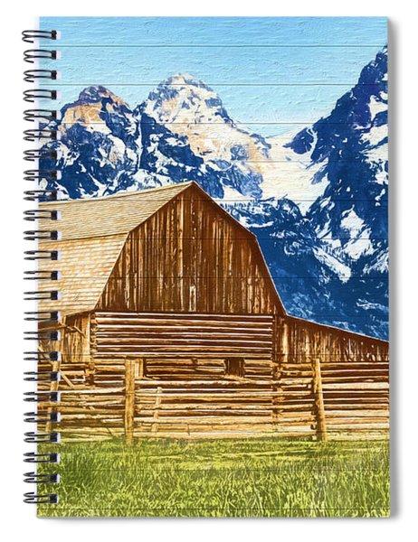 Moulton Barn Wood Panels Spiral Notebook